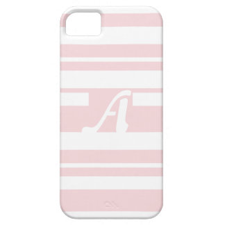 Pale Pink and White Random Stripes Monogram iPhone 5 Cover