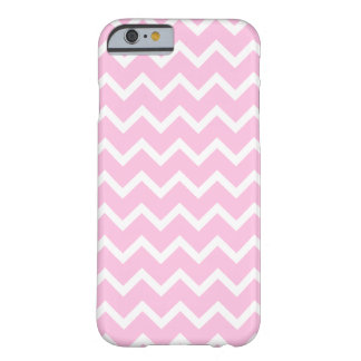 Pale Pink and White Zigzag Pattern. Barely There iPhone 6 Case