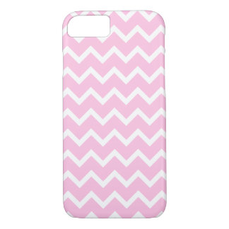 Pale Pink and White Zigzag Pattern. iPhone 7 Case
