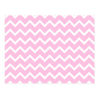 Pale Pink and White Zigzag Pattern. Postcard
