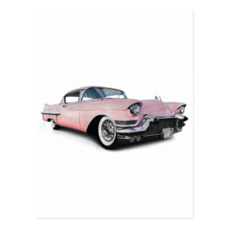 Pale Pink Cadillac Postcard