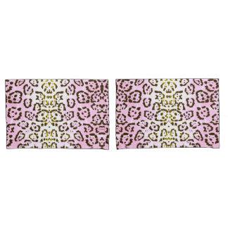Pale Pink Cheetah Pop Art Cat Animal Print Pillowcase