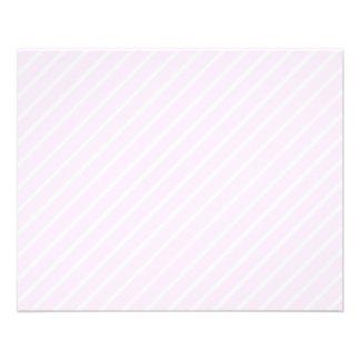 Pale pink Diagonal Stripes. 11.5 Cm X 14 Cm Flyer