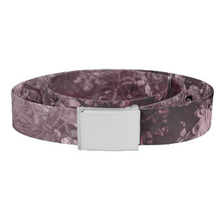 Pale Pink Grunge Collage Belt