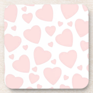 Pale Pink Hearts Coaster