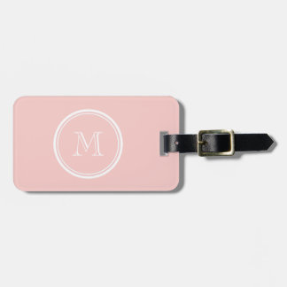 Pale Pink High End Colored Monogram Luggage Tag