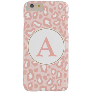 Pale Pink Leopard Monogram iPhone 6 Plus Case