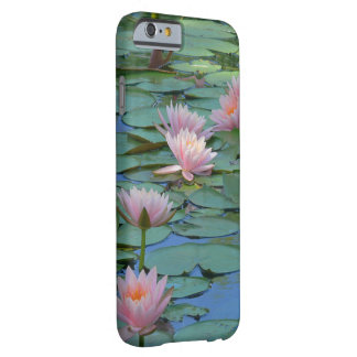 PALE PINK LOTUS BLOSSOMS AMID GREEN LILY PADS BARELY THERE iPhone 6 CASE