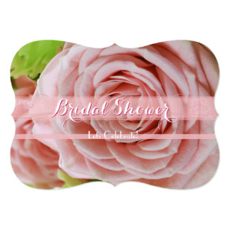 Pale Pink Mini Roses Bridal Shower 1C 13 Cm X 18 Cm Invitation Card