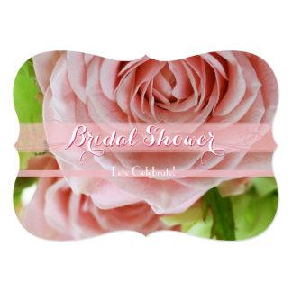 Pale Pink Mini Roses Bridal Shower 1C 13 Cm X 18 Cm Invitation Card
