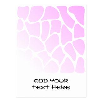 Pale Pink Pattern Post Card