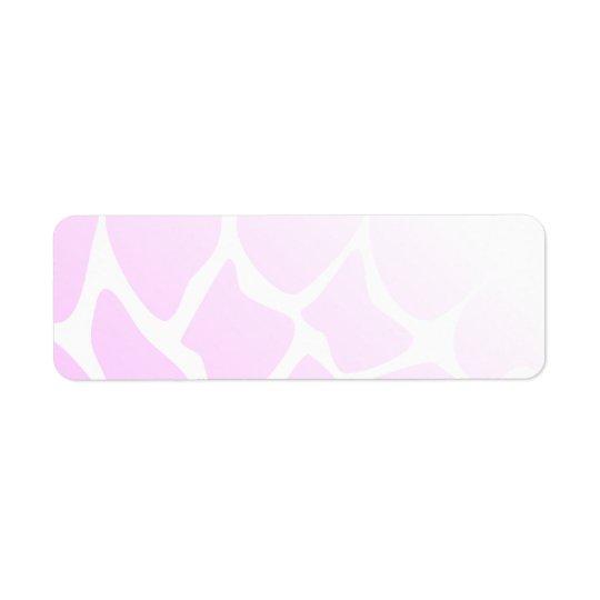 Pale Pink Pattern. Return Address Label