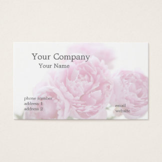 pale pink peonies business card