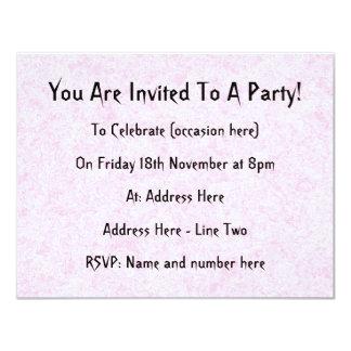 Pale Pink Random Background Pattern. 11 Cm X 14 Cm Invitation Card