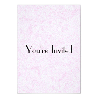 Pale Pink Random Background Pattern. 13 Cm X 18 Cm Invitation Card