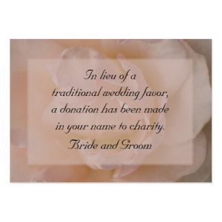 Pale Pink Rose Floral Wedding Charity Card Pack Of Chubby Business Cards