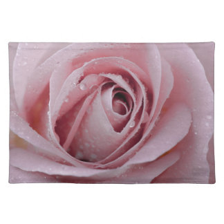 pale pink rose placemat