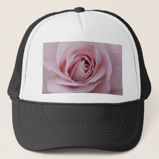 pale pink rose trucker hat