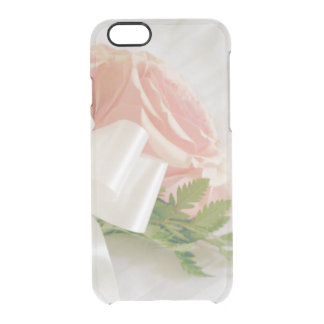 Pale Pink Roses Clear iPhone 6/6S Case