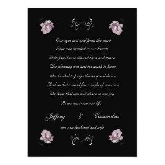 Pale Pink Roses elopement announcement