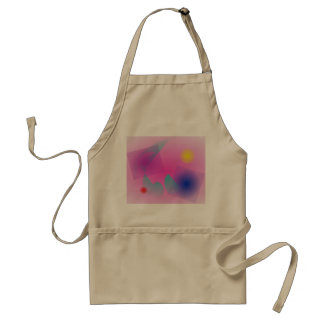 Pale Pink Simple Abstract Composition Aprons