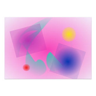Pale Pink Simple Abstract Composition Card