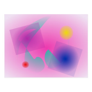 Pale Pink Simple Abstract Composition Postcard