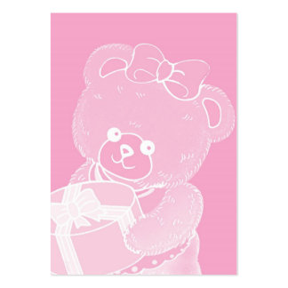 Pale Pink Teddy Bear for Girls Business Cards
