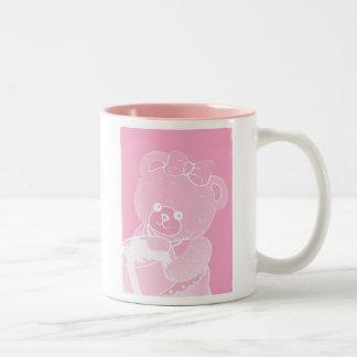 Pale Pink Teddy Bear for Girls Coffee Mugs