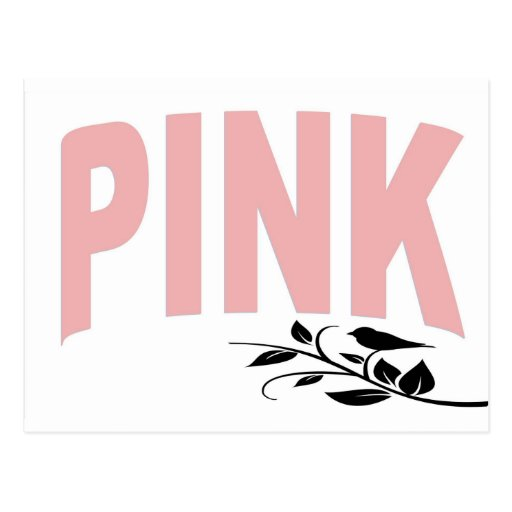 Pale Pink Text Post Card