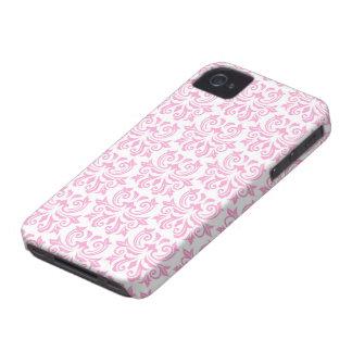 Pale pink vintage floral damask pattern case blackberry cases