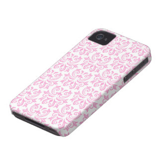 Pale pink vintage floral damask pattern case iPhone 4 cover