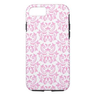 Pale pink vintage floral damask pattern case