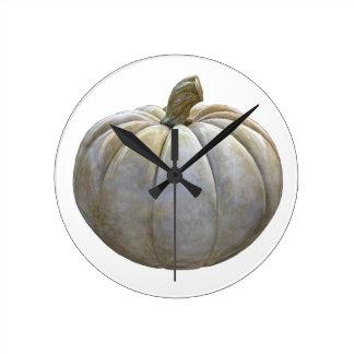 Pale Pumpkin Round Clock