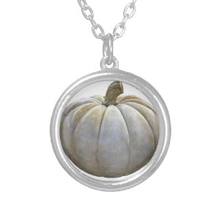 Pale Pumpkin Silver Plated Necklace