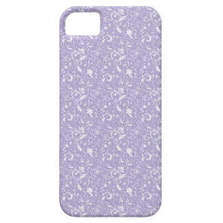 Pale Purple Floral Swirls iPhone4 iPhone 5 Covers