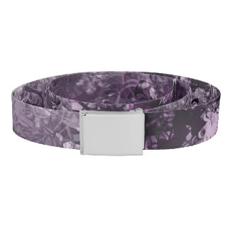 Pale Purple Grunge Collage Belt