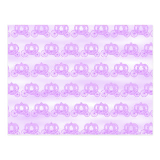 Pale Purple Pattern of Princess Carriages Post Cards