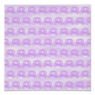 Pale Purple Pattern of Princess Carriages Poster