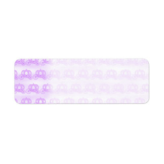 Pale Purple Pattern of Princess Carriages Return Address Label