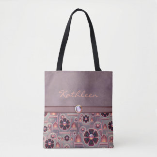 Pale Purple / Salmon-SOPHISTICATED-Handbag / Tote