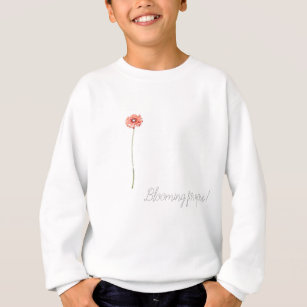Pale Red Gerbera Flower Sweatshirt