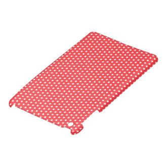 Pale red white chic cute polka dot dots pattern cover for the iPad mini