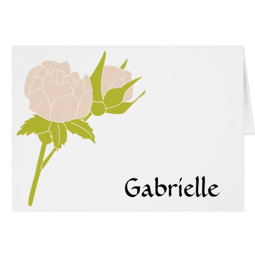 Pale Rose Personalized Note Card