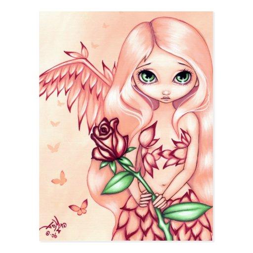 """Pale Rose"" Postcard"