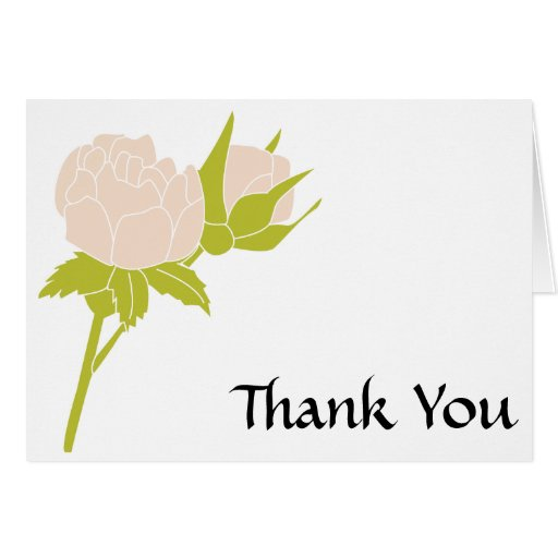 Pale Rose Thank You Notecard Cards