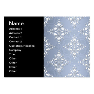 Pale Silvery Blue Damask Pack Of Chubby Business Cards