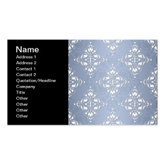Pale Silvery Blue Damask Pack Of Standard Business Cards