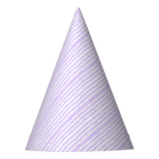 Pale Speckled Striped Party Hat