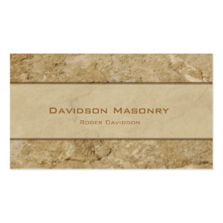 Pale Stone Business Card